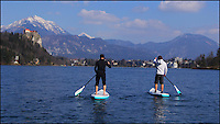 BNPS.co.uk (01202 558833)<br /> Pic: SipaBoards/BNPS<br /> <br /> Using the SipaBoard.<br /> <br /> Inventors are hoping to take the watersports market by storm after launching the world's first jet-propelled stand-up paddleboards that can go absolutely anywhere.<br /> <br /> Unlike normal SUPs, these cutting edge boards come with a built-in electric jet propulsion engine that can push the rider along at up to 3.5 knots - more than 4mph.<br /> <br /> The innovation, called SipaBoard, allows paddlers to take their boards upstream or against currents, or cover longer distances, with speeds controlled by a wireless remote built into the paddle.<br /> <br /> A SipaBoard can be pre-ordered for $990 - around &pound;670 - from today (Tues).