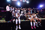 DALLAS, TX - APRIL 2: South Carolina Gamecocks celebrates during the 2017 Women's Final Four at American Airlines Center on April 2, 2017 in Dallas, Texas. (Photo by Justin Tafoya/NCAA Photos via Getty Images)