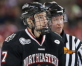 Mike McMurtry (NU - 7) - The visiting Northeastern University Huskies defeated the Boston University Terriers 6-5 on Friday, January 18, 2013, at Agganis Arena in Boston, Massachusetts.