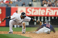 09/19/11 Bronx, NY: New York Yankees second baseman Robinson Cano #24 during an MLB game played at Yankee Stadium between the Minnesota Twins and the New York Yankees. The Yankees defeated the Twins 6-4.