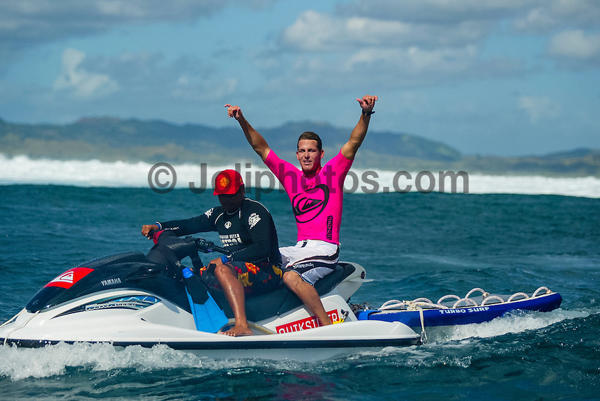 The 2003 Quiksilver Pro Fiji was won by current world surfing champion, Hawaiian Andy Irons. Florida surfer Cory Lopez finished runner up.Photo: joliphotos.com