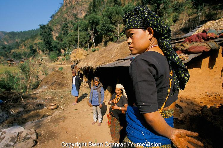 Nepali farmer's in Rolpa District