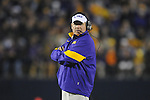 Ole Miss vs. LSU Head Coach Les Miles at Vaught-Hemingway Stadium in Oxford, Miss. on Saturday, November 19, 2011.