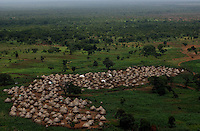 Jie village at the edge of the Boma escarpment.  (PHOTO: MIGUEL JUAREZ)