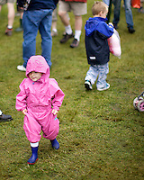 Child spectators at the Inveraray Highland Games, held at Inveraray Castle in Argyll.