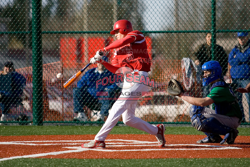 March 24, 2008: The Newport Knights' Collin Bennett squares up on a pitch during the regular season opener against Liberty High School at Newport High School in Bellevue, Washington.