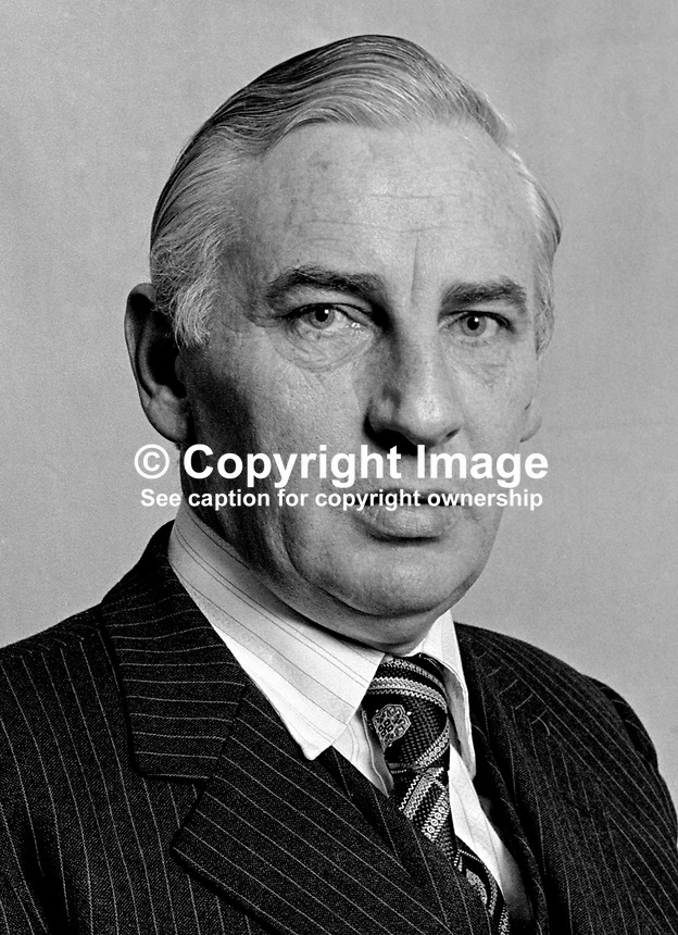 Peter Barry, Rep of Ireland, TD, Minister for Transport & Power, 1975030185b, 185/75..Copyright Image from Victor Patterson, 54 Dorchester Park, Belfast, UK, BT9 6RJ..Tel: +44 28 9066 1296.Mob: +44 7802 353836.Voicemail +44 20 8816 7153.Skype: victorpattersonbelfast.Email: victorpatterson@me.com.Email: victorpatterson@ireland.com (back-up)..IMPORTANT: If you wish to use this image or any other of my images please go to www.victorpatterson.com and click on the Terms & Conditions. Then contact me by email or phone with the reference number(s) of the image(s) concerned.