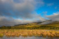 Brooks river and Dumpling mountain, Katmai National Park, Alaska.