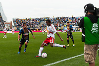 Roy Miller (7) of the New York Red Bulls. The New York Red Bulls defeated the Philadelphia Union 3-0 during a Major League Soccer (MLS) match at PPL Park in Chester, PA, on October 27, 2012.