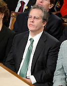 Gene B. Sperling, Director, National Economic Council and Assistant to the President for Economic Policy, listens as United States President Barack Obama delivers his State of the Union Address to a Joint Session of Congress in the U.S. Capitol in Washington, D.C., Tuesday, January 24, 2012..Credit: Ron Sachs / CNP.(RESTRICTION: NO New York or New Jersey Newspapers or newspapers within a 75 mile radius of New York City)