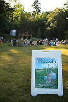 Seattle Shakespeare Company/Wooden O's summer outdoor production of MacBeth.