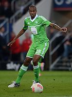 FUSSBALL   1. BUNDESLIGA  SAISON 2012/2013   3. Spieltag FC Augsburg - VfL Wolfsburg           14.09.2012 Naldo (VfL Wolfsburg)