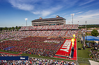 Visitors fill Williams Stadium for Commencement on May 14, 2016, in celebration of Liberty's 43rd graduating class.