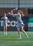 30 March 2016: University of Vermont Catamount Attacker Marjorie Dehm, a Freshman from Baldwinsville, NY, in first half action against the Manhattan College Jaspers at Virtue Field in Burlington, Vermont. The Lady Cats defeated the Jaspers 11-5 in non-conference play. Mandatory Credit: Ed Wolfstein Photo *** RAW (NEF) Image File Available ***