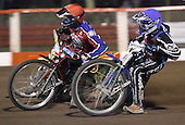 Heat 14 - Lanham (red), Tomicek - Lakeside Hammers vs Peterborough Panthers - Sky Sports Elite League at Arena Essex, Purfleet - 31/08/07  - MANDATORY CREDIT: Gavin Ellis/TGSPHOTO - SELF-BILLING APPLIES WHERE APPROPRIATE. NO UNPAID USE. TEL: 0845 094 6026..