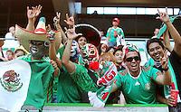 Wolfsburg , 270611 , FIFA / Frauen Weltmeisterschaft 2011 / Womens Worldcup 2011 , Gruppe B  ,  .England - Mexico .mexikanische Fans .Foto:Karina Hessland .