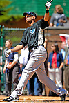 21 May 2007:  Toronto Blue Jays outfielder Alex Rios participates in the pre-game Home Run Derby at Doubleday Field prior to Baseball's Annual Hall of Fame Game in Cooperstown, NY. Rios hit 12 homers in 3 rounds of competition, but fell to teammate Vernon Wells, who hit 13 to win the event...Mandatory Credit: Ed Wolfstein Photo