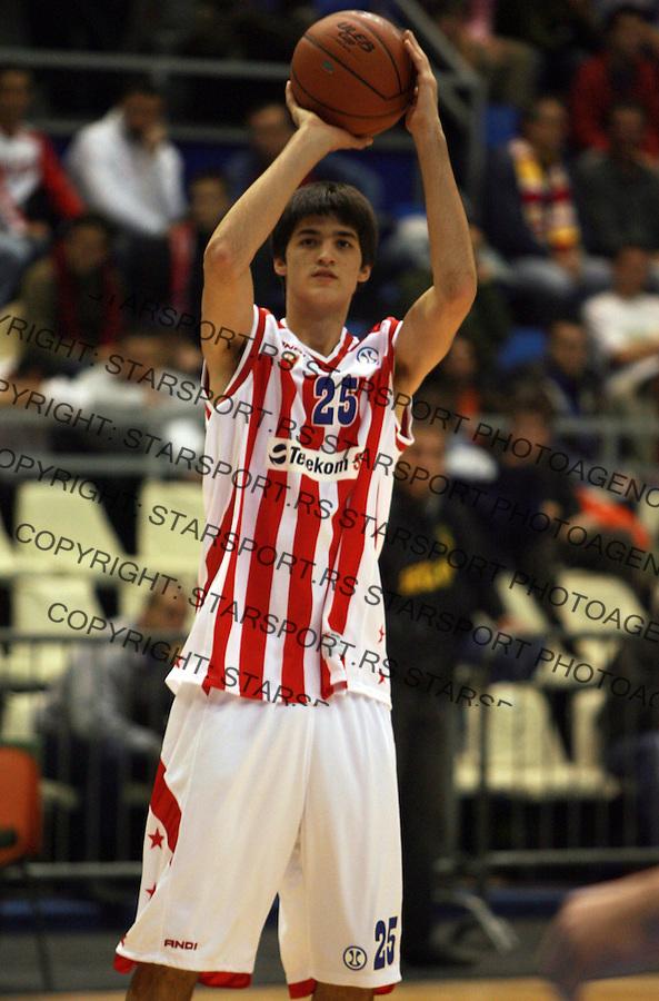 Sport Kosarka Basketball Crvena Zvezda Red Star ULEB kup Rondovic NIkola 13.11.2007. photo: Pedja Milosavljevic