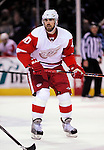 21 November 2009: Detroit Red Wings' left wing forward Henrik Zetterberg in the third period against the Montreal Canadiens at the Bell Centre in Montreal, Quebec, Canada. The Canadiens, wearing their original season 1909-10 throwback uniforms fell to the visiting Red Wings in a 3-2 shootout. Mandatory Credit: Ed Wolfstein Photo