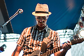 Charles Spearin of Broken Social Scene, from Toronto, Ontario, plays City Plaza in Raleigh, N.C. during the Hopscotch Music Festival, Friday, Sept. 10, 2010.