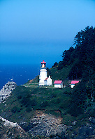 LIGHTHOUSE<br /> Lamp Lit - Heceta Head, Oregon<br /> The lighthouse is a working lighthouse.  From a height of 205 feet above the ocean, it's &quot;first order&quot; Fresnel lens, casts it's beams about 21 miles out to sea.