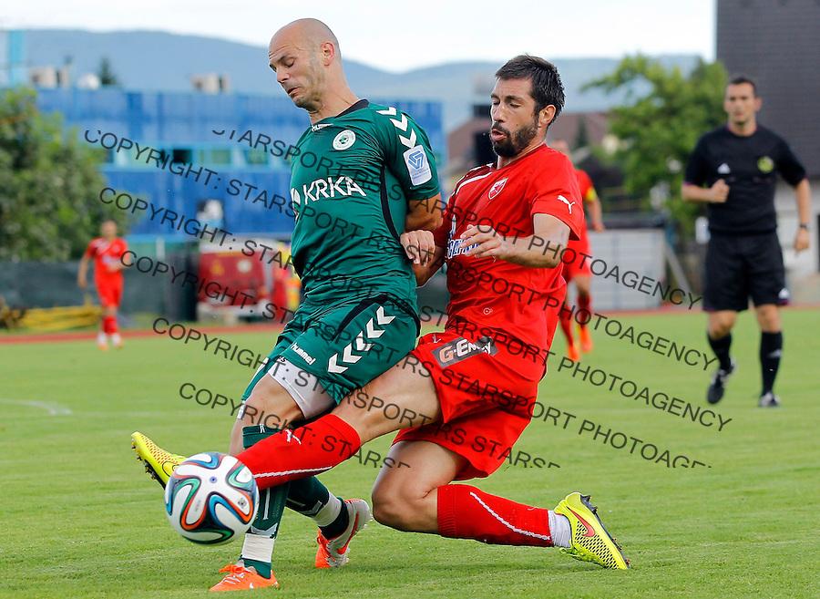 Fudbal season 2013-2014<br /> FK Crvena Zvezda pripreme<br /> Crvena Zvezda v Krka<br /> Nikola Mijailovic (R)<br /> Novo Mesto, 07.12.2014.<br /> foto: Srdjan Stevanovic/Starsportphoto &copy;