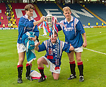 Brian Laudrup, Paul Gascoigne and Gordon Durie with the Scottish Cup at Hampden in May 1996 after defeating Hearts 5-1