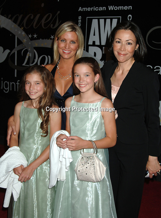 Melanie Bloom and daughters and Ann Curry ..arriving at The 31st Annual American Women in Radio & Television's Gracie Allen Awards on June 19, 2006 at..The Marriott Marquis Hotel. ..Robin Platzer, Twin Images