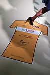 Netherlands, Utrecht, 13-01-2015. T shirt met verwijzing naar stand Tour de France op de Vakantiebeurs 2015 in de Jaarbeurs. FOTO: Gerard Til