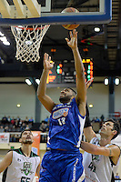 Dion Prewster in action during the NBL - Wellington Saints v Manawatu Jets at TSB Bank Arena, Queens Wharf, Wellington, New Zealand on Thursday 8 May 2014. <br /> Photo by Masanori Udagawa. <br /> www.photowellington.photoshelter.com.