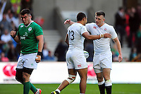 Joe Marchant of England U20 celebrates his second half try. World Rugby U20 Championship Final between England U20 and Ireland U20 on June 25, 2016 at the AJ Bell Stadium in Manchester, England. Photo by: Patrick Khachfe / Onside Images
