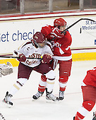 Kaliya Johnson (BC - 6), Brianne Jenner (Cornell - 11) - The Boston College Eagles defeated the visiting Cornell University Big Red 4-3 (OT) on Sunday, January 11, 2012, at Kelley Rink in Conte Forum in Chestnut Hill, Massachusetts.