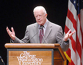 Washington, D.C. - March 8, 2007 -- Former United States President Jimmy Carter speaks to students at George Washington University on his controversial book  &quot;Palestine: Peace Not Apartheid&quot; in Washington, D.C. on Thursday, March 8, 2007.<br /> Credit: Ron Sachs / CNP
