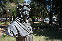 19/02/12. Addis Ababa, Ethiopia. Bust of Russian poet Aleksandr Pushkin, in the grounds of the National Archaeological Museum. Photo credit: Jane Hobson