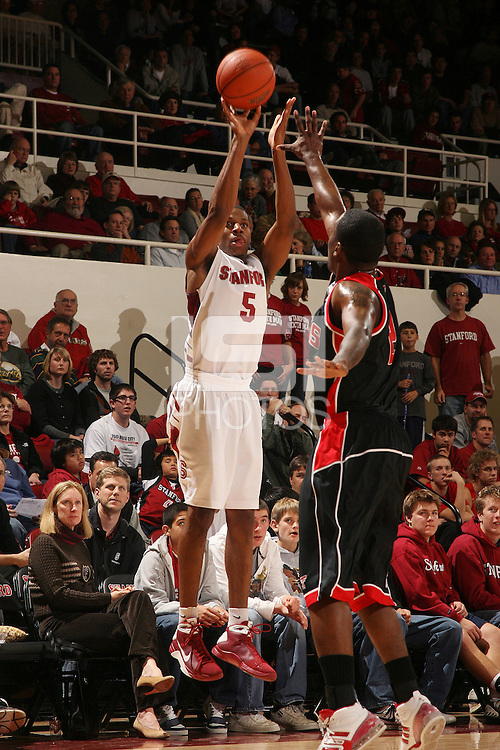 Stanford, CA - DECEMBER 28:  Guard Jeremy Green #5 of the Stanford Cardinal during Stanford's 111-66 win against the Texas Tech Red Raiders on December 28, 2008 at Maples Pavilion in Stanford, California.