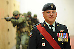 insa-valour-MacDonald.Master Warrant Officer William MacDonald, recipient of the Star of Military Valour at the Edmonton Garrison, in Edmonton, on Monday, July 11, 2011.  The Star of Military Valour  is the highest military honor awarded during the Afghanistan conflict.  ..John Ulan/Epic Photography