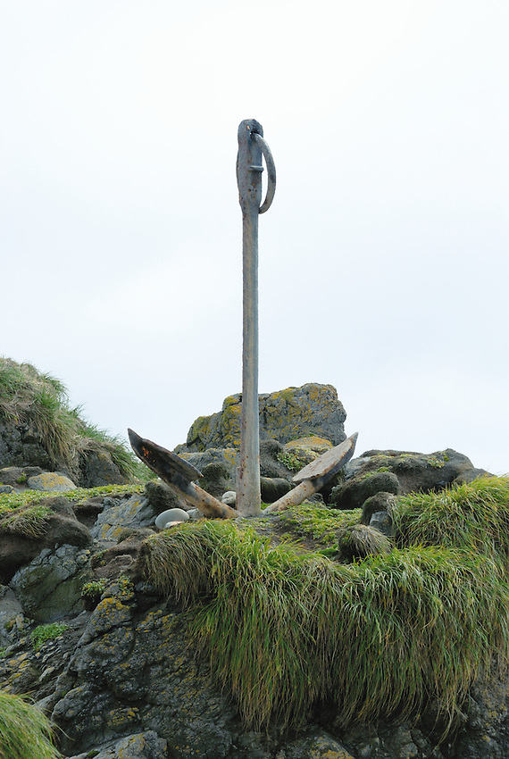 Always To Be Remembered - Anchor erected in honour of those lost at sea in the area of Macquarie Island