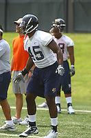 Virginia linebacker Denzel Burrell during open spring practice for the Virginia Cavaliers football team August 7, 2009 at the University of Virginia in Charlottesville, VA. Photo/Andrew Shurtleff