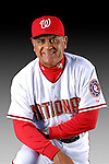 25 February 2007: Washington Nationals First Base Coach Jerry Morales poses for his Photo Day portrait at Space Coast Stadium in Viera, Florida.<br /> <br /> Mandatory Photo Credit: Ed Wolfstein Photo<br /> <br /> Note: This image is available in a RAW (NEF) File Format - contact Photographer.