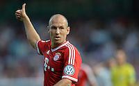FUSSBALL       DFB POKAL 1. RUNDE        SAISON 2013/2014 BSV Schwarz-Weiss Rehden  - FC Bayern Muenchen  05.08.2013 Arjen Robben (FC Bayern Muenchen)