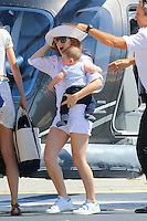 Sasha Baron Cohen, his wife Isla & their baby are leaving Monaco & heading to the airport - France