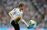 Fussball International  WM Qualifikation 2014   06.09.2013 Deutschland - Oesterreich  Thomas Mueller (Deutschland) am Ball