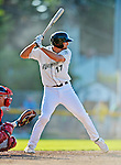 30 June 2012: Vermont Lake Monsters infielder John Wooten in action against the Lowell Spinners at Centennial Field in Burlington, Vermont. Mandatory Credit: Ed Wolfstein Photo