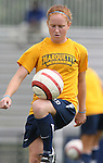 Marquette's Michelle Compty before the game on Sunday September 17th, 2006 at Koskinen Stadium on the campus of the Duke University in Durham, North Carolina. The Duke Blue Devils and Marquette Golden Eagles tied 1-1 after overtime in an NCAA Division I Women's Soccer game.