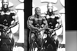 "Ricky ""Tricky"" Jackson on stage at the finals for the 2009 Olympia 202 competition in Las Vegas."