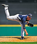 11 March 2009: New York Yankees' pitcher Alfredo Aceves on the mound during a Spring Training game against the Detroit Tigers at Joker Marchant Stadium in Lakeland, Florida. The Tigers defeated the Yankees 7-4 in the Grapefruit League matchup. Mandatory Photo Credit: Ed Wolfstein Photo