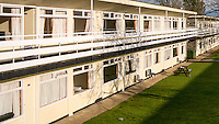 Chalets at Pontins Holiday Park, Camber Sands, Camber, East Sussex, Britain - Apr 2014.