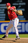 16 September 2007: Washington Nationals pitcher Chris Schroder on the mound against the Atlanta Braves at Robert F. Kennedy Memorial Stadium in Washington, DC. The Braves shut out the Nationals 3-0 in the third game of their 3-game series...Mandatory Photo Credit: Ed Wolfstein Photo
