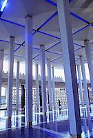 Malaysia. National Mosque in Kuala Lumpur. Interior.