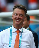 Netherlands manager Louis Van Gaal smiles